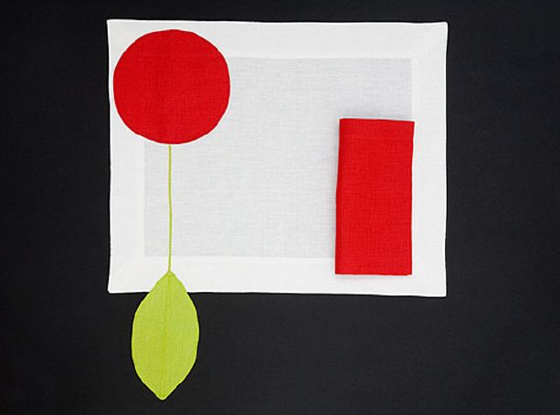 PLACEMAT CHERRY - Red chartreuse