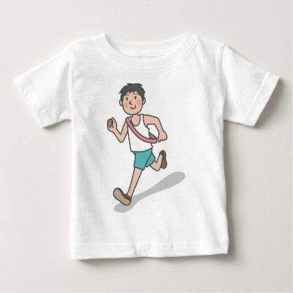 #Running Anime Boy Baby T-Shirt - #travel #clothing