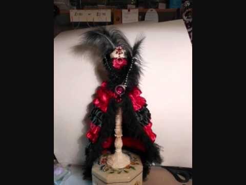 Red & Black Altered Dressform