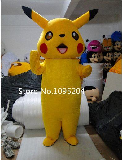 NEW Hot Sell Pikachu Pokemon Cute Mascot Costume Fancy Dress Adult Size