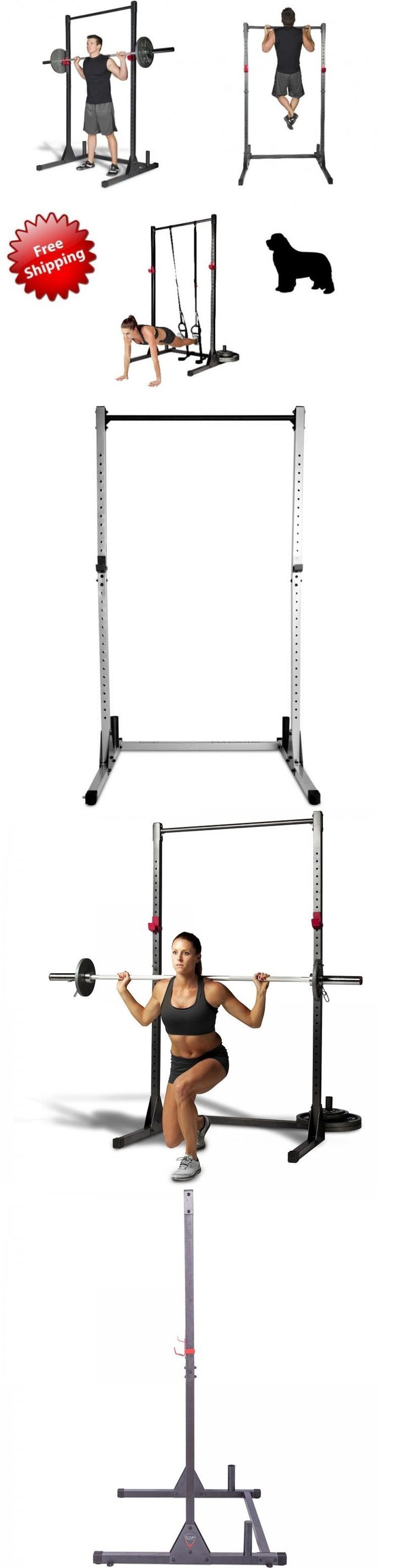 Other Strength Training 28067: New Home Gym Power Rack Cage Exercise Stand Pull Up Bar Workout Fitness Training BUY IT NOW ONLY: $120.17