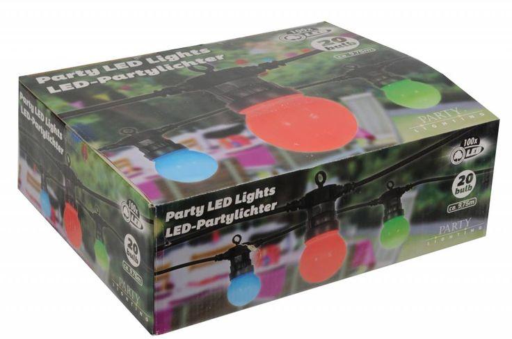 Feestverlichting met 20 LED Lampen (9,75M)