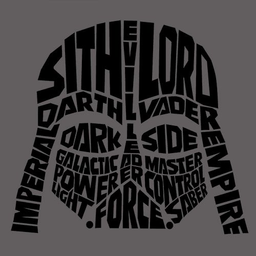 Darth Vader Typography T-Shirt More Info Behind Darth Vader Typography T-Shirt Typography is the art and technique of arranging type to make written language legible, readable and appealing when displ