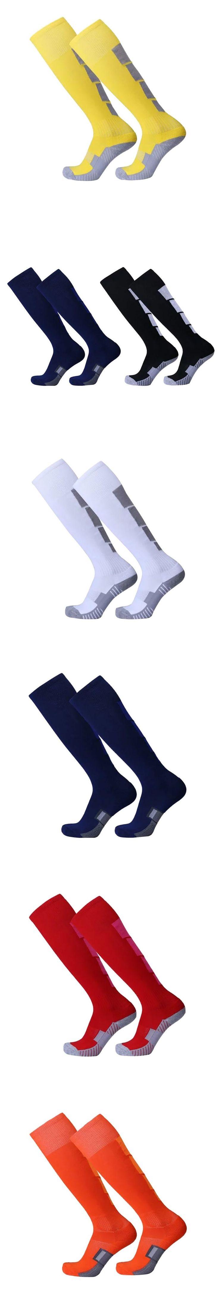 Men Boys Cotton Comfortable Leg Compression Long Socks Stretch Relief Soft Socks Plain Over Knee High Sock