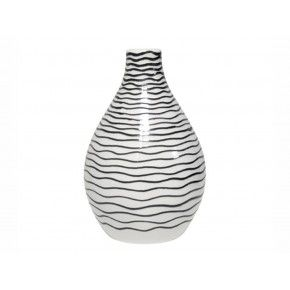 Mooi van HK Living, handgemaakte vaas in zwart-wit € 21,95