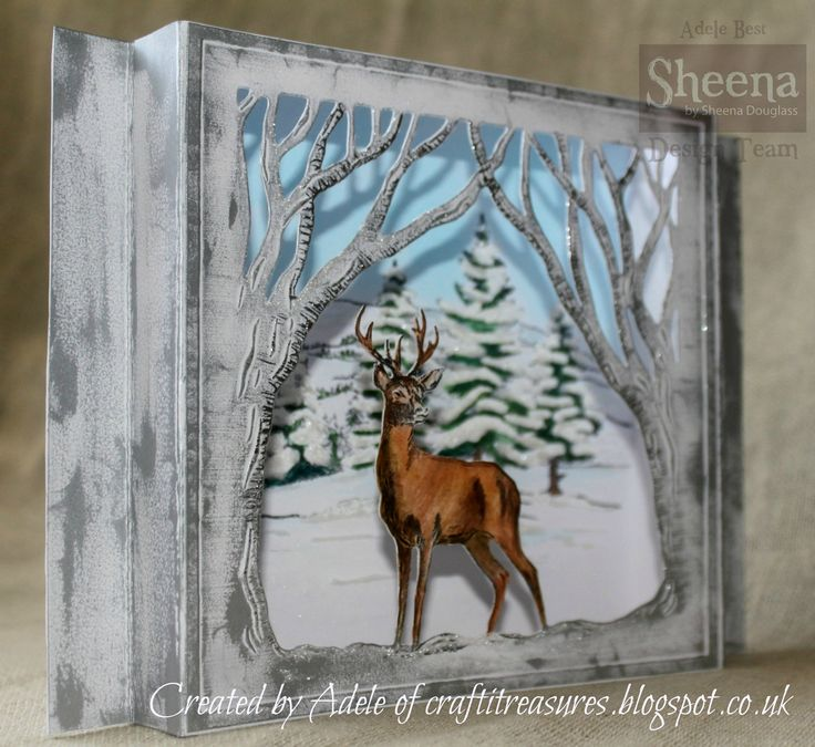 Sheena Douglass Christmas Deer die frame from the Scenic winter Perfect partners collection.