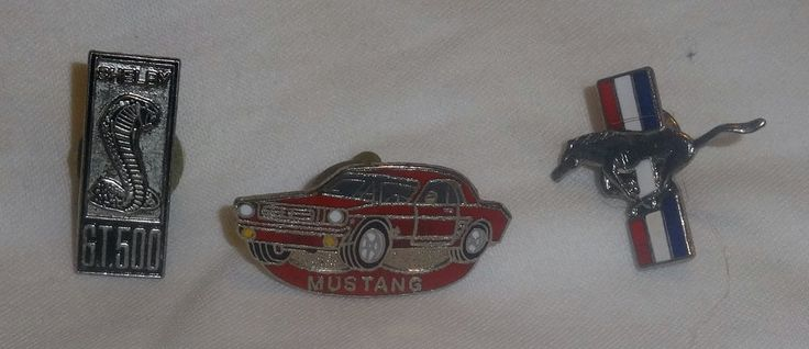 Vintage Shelby Mustang 3 Pin lot GT 500, Car, Horse!!!!