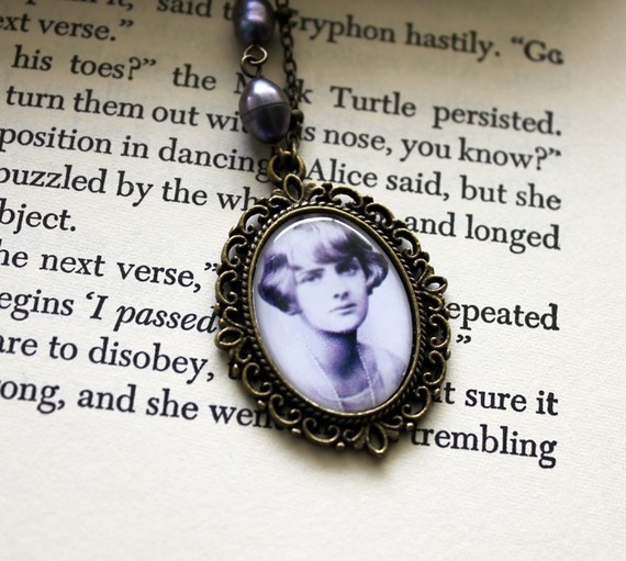 """Daphne du Maurier portrait necklace by 13am on Etsy. """"There is no going back in life. """"There is no return. No second chance."""""""