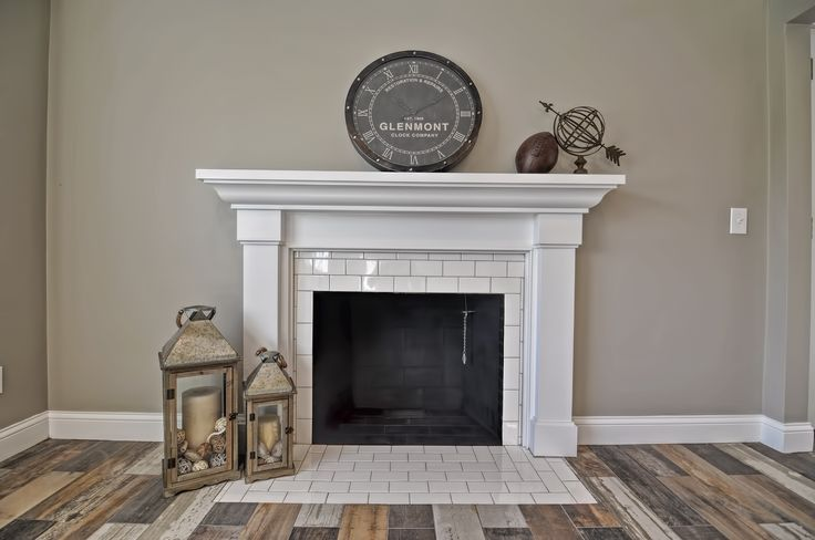 rustic chic fireplace subway tile fireplace craftsman fireplace mantel behr marquee paint