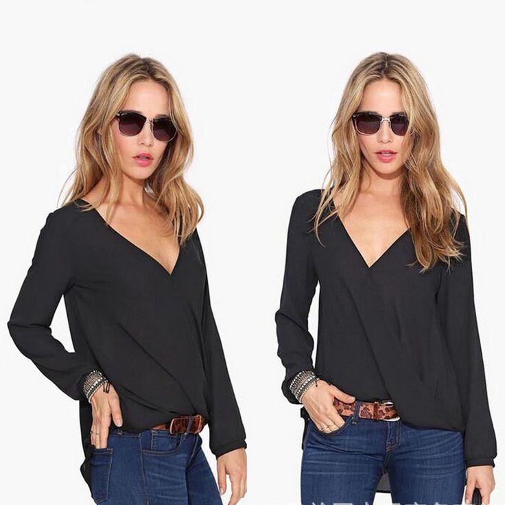 Sexy-Fashion-Womens-Loose-Chiffon-V-Neck-Tops-Long-Sleeve-Shirt-Casual-Blouse