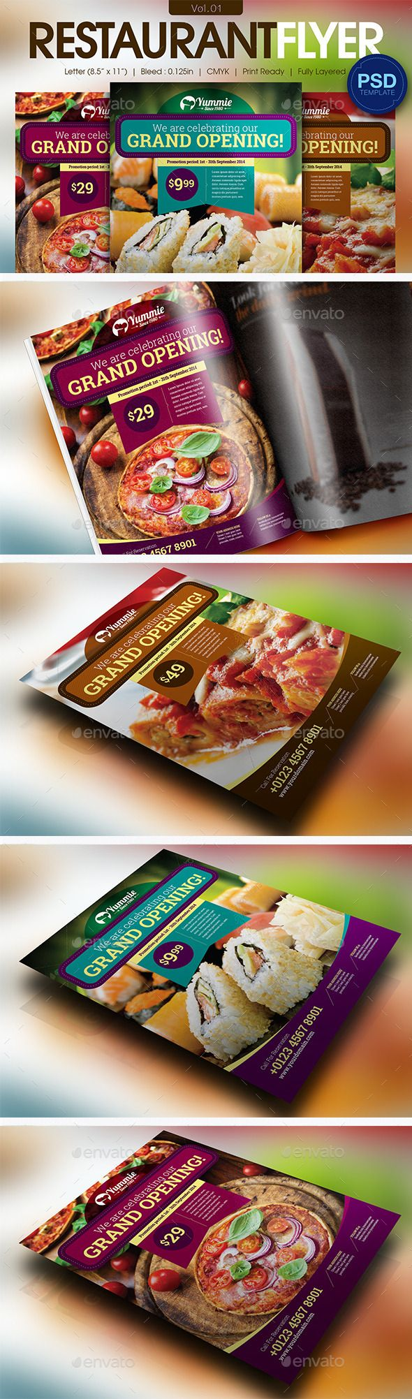 Restaurant Flyer Tempalte #design #foodflyer Download: http://graphicriver.net/item/restaurant-flyer-vol01/11595821?ref=ksioks