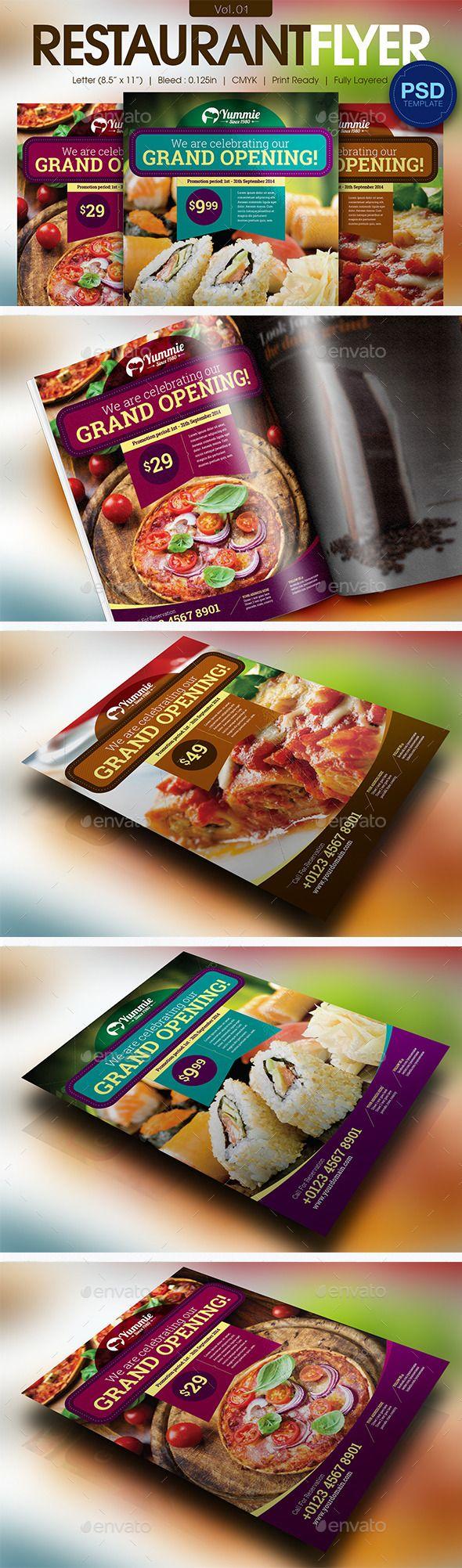 Restaurant Flyer Tempalte #design #foodflyer Download: http://graphicriver.net/item/restaurant-flyer-vol01/11595821?ref=ksioks