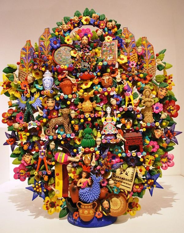 Tree of life mexican crafts árbol-de-la-vida-foto-Alejandro-Linares-García-wikipedia2.jpg 600×759 pixels