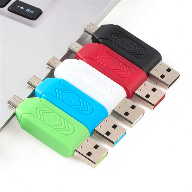 Micro USB Charger Converter OTG Card Reader 2 in 1 SD TF Card Reader Micro USB OTG Adapter for Samsung Android Phones Computer