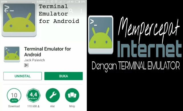 Terminal Emulator Untuk Mempercepat Internet Internet Aplikasi Tahu