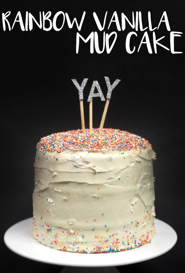 Rainbow Vanilla Mud Cake