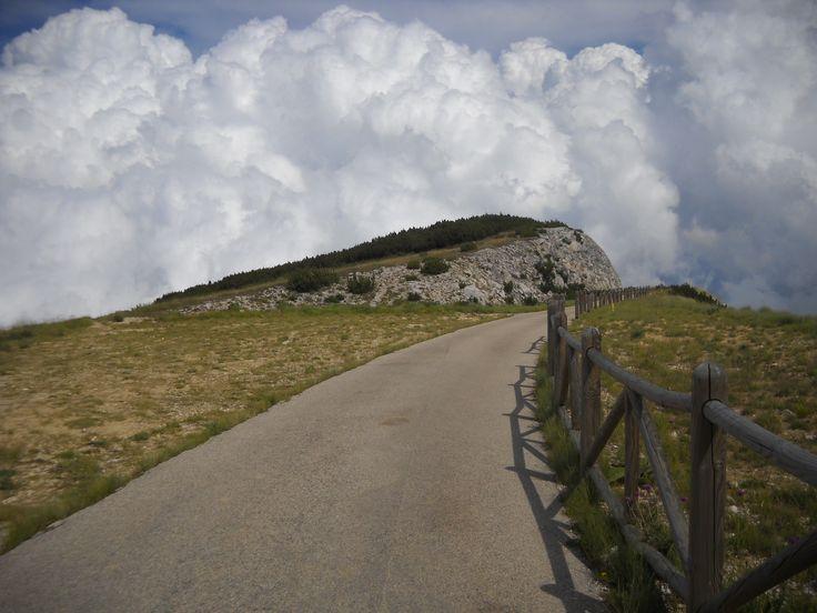 Ascending the Maiella mountain