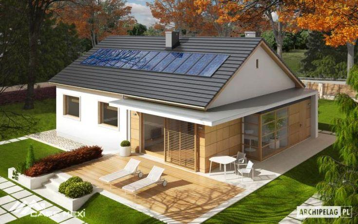 Proiecte de case cu parter si finisaje exterioare din lemn Single floor houses…