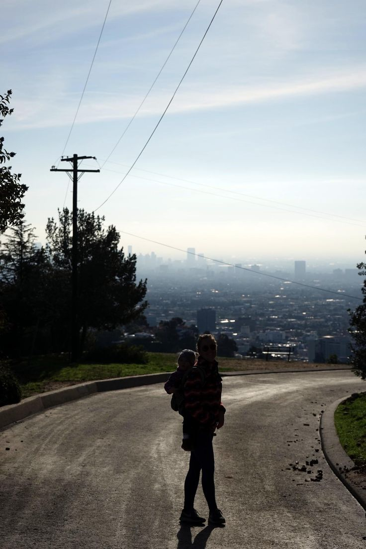 hiking in runyon canyon, wandern in los angeles
