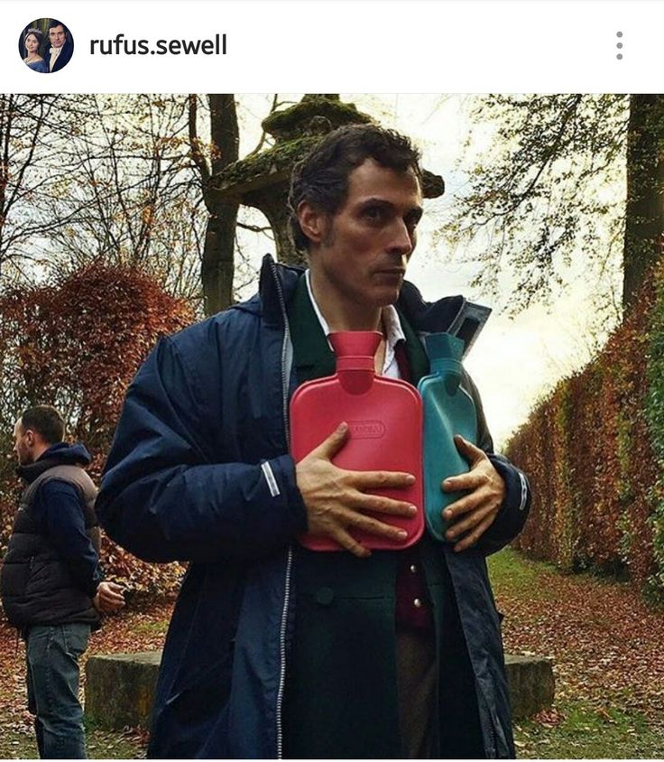 """Rufus sewell as """"lord m"""" on the set of Victoria"""