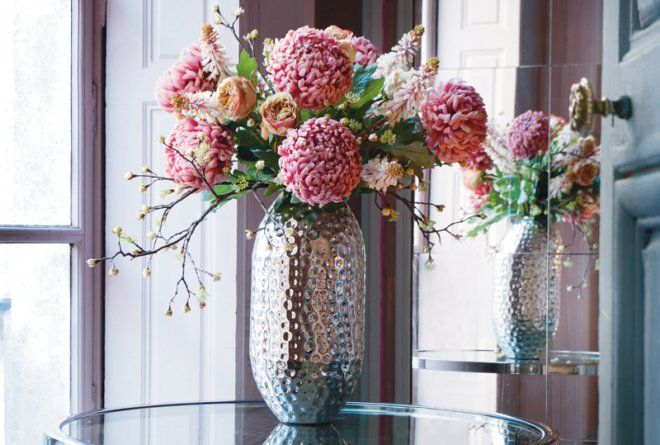 112 best decoraci n con flores artificiales images on - Plantas artificiales para decoracion ...