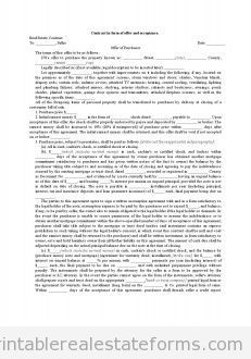 Free Printable contract in form of offer and acceptance Form