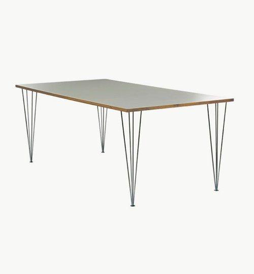 Edge matbord i ek 120 x 70 cm. MDF med vit högtryckslaminat på toppen med kantlist i massivt trä. Kromade stålben. #azdesign #matbord #bord