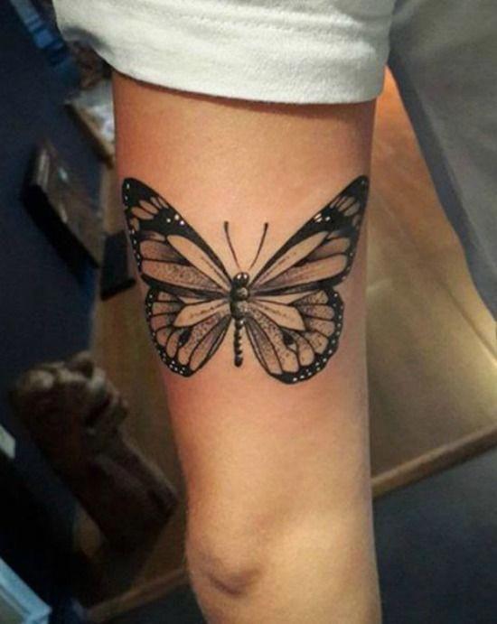 Arm Mens Butterfly Tattoo Best Tattoo Ideas