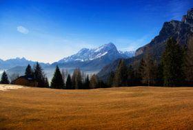 Mount Agner, Dolomites Italy - stock photo