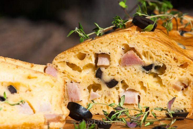 Oliven- og skinkebrød (fransk cake jambon-olives) | chezENGH
