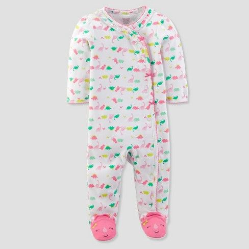 b7830e7455 Baby Girls  Dinosaur Sleep N  Play - Just One You™ Made by Carter s® White  Pink   Target