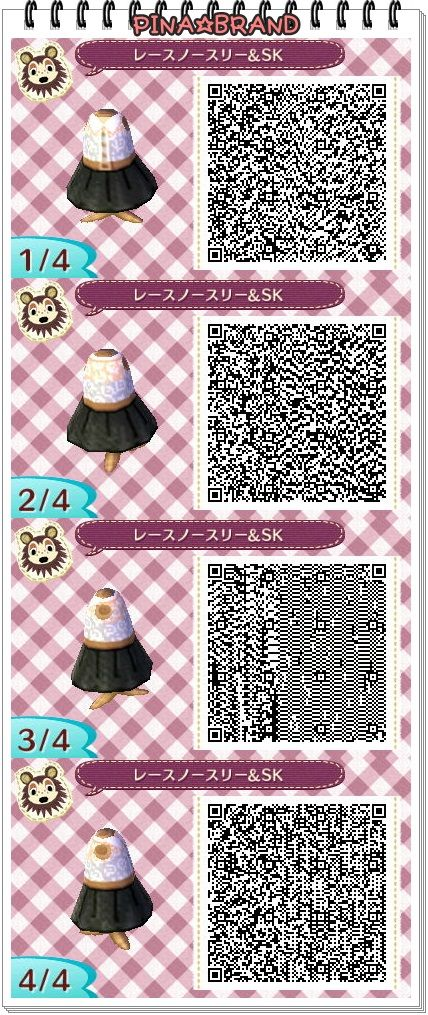 ACNL QR Code: Sleeveless Lace Top w/ Black Skirt