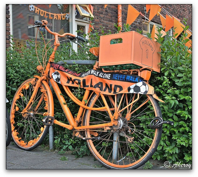 Support for the Dutch ( Orange ) Soccer Team ,Groningen stad, the Netherlands, Europe by Aheroy(2Busy), via Flickr