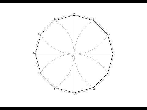 Pentágono regular inscrito en una circunferencia - YouTube