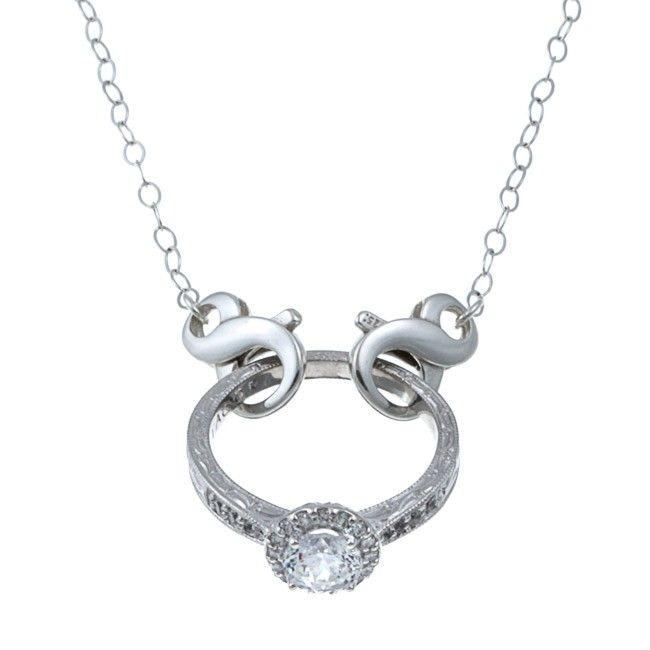 The Classic- A maternity necklace. Finally a way to wear your ring when you can't wear it on your finger..