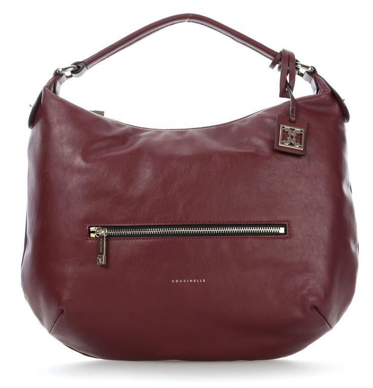 wardow.com - #Coccinelle, Blanche Beuteltasche Leder wein 38 cm #bag #marsala #red #wardow