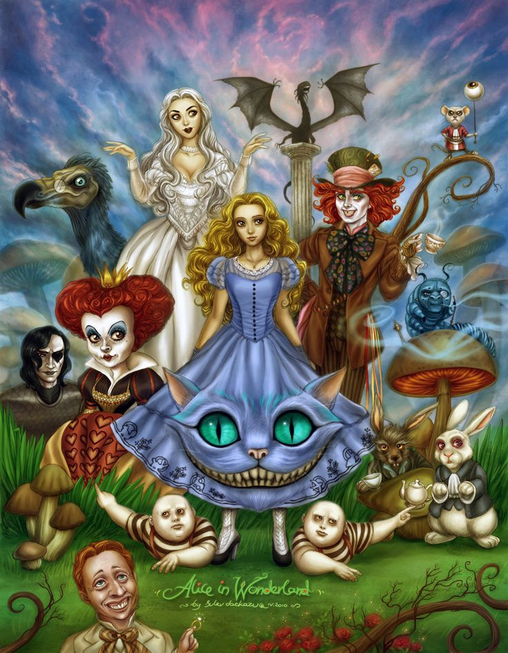 The movie Alice in Wonderland characters by Daekazu from Deviantart.com