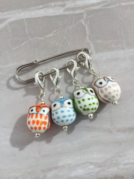 Owl Stitch Markers stitch markers knitting by DianaSianCrafts