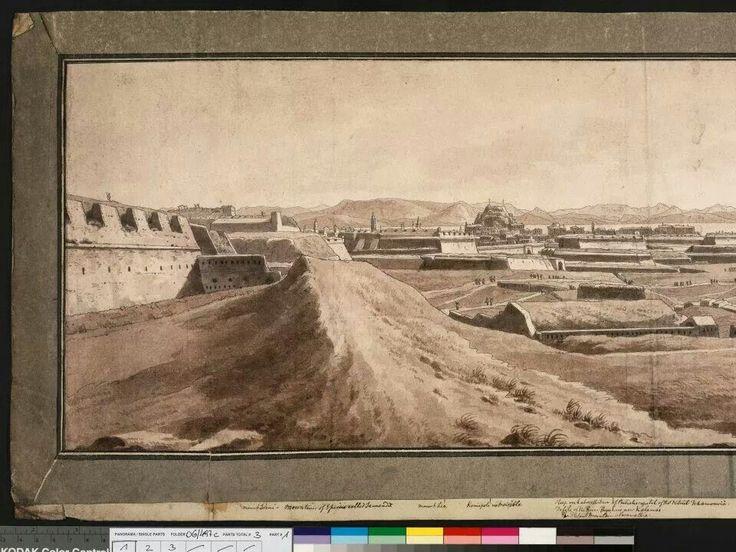 1806 view across corfu town to south