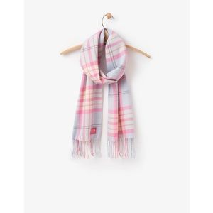 SALE! Joules Bracken Soft Woven Scarf - Ice Blue Check