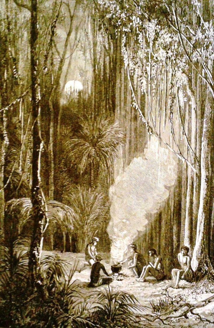 """""""A noite desce com presteza; a luz do fogo dança por sobre os troncos e galhos. É muito sossegado aqui na profundeza da mata. Nos campos ..."""