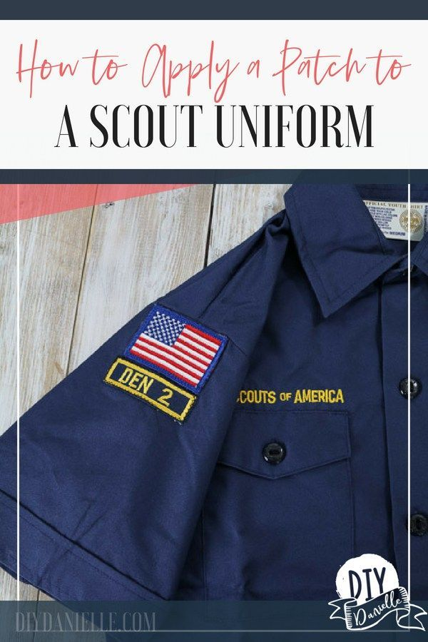 How to Sew or Iron on Boy Scout Patches | DIY/Crafts ✄ | Amazing ...