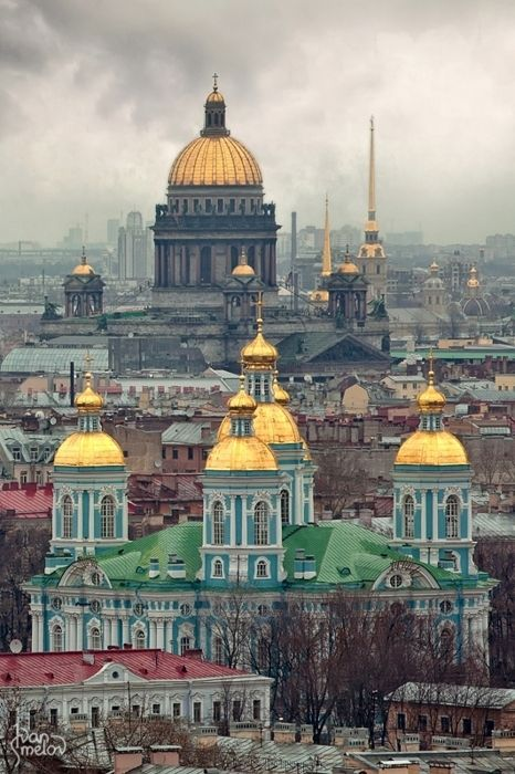 St. Petersburg, Russia. When I went in 1984, it was still called Leningrad and was part of the U.S.S.R. They had big pitchers of vodka on the tables in the restaurant we ate in.