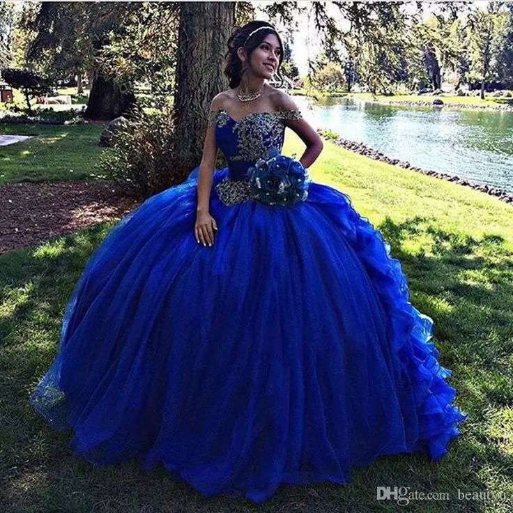 Ball Gown Royal Blue Quinceanera Dresses 2017 Ruffles Skirt Vestidos De 15 Anos Beaded Corset Off The Shoulder Sweet 16 Dress Quinceanera Dresses 15 Years Girls Quinceanera Dresses Sweet 16 Prom Dresses Online with $224.0/Piece on Beautyu's Store | DHgate.com