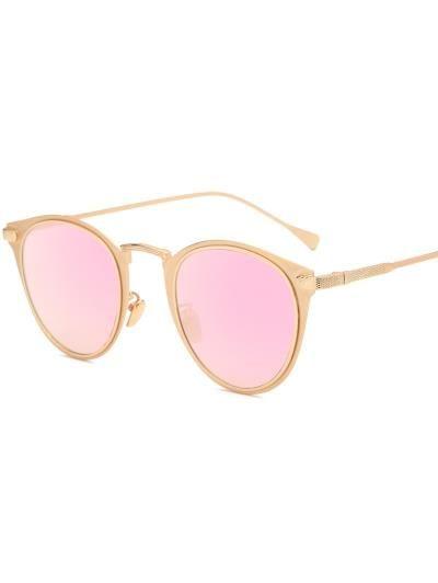 De metal del ojo de gato gafas de sol espejadas