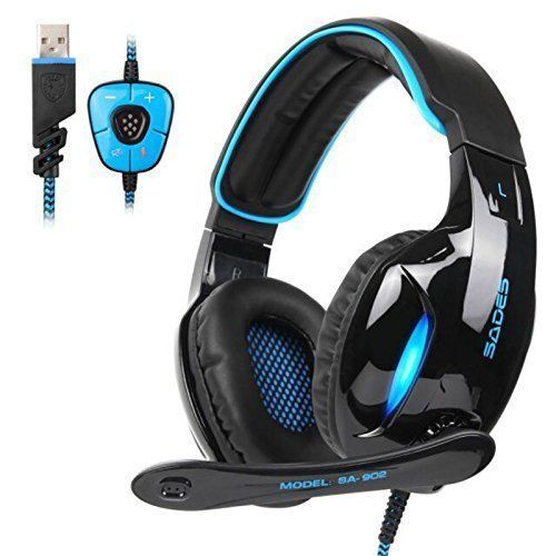 PC Headsets Gaming Surround Sound USB Headphones Microphone PlayStation Xbox NEW #PCHeadsetsGamingSurroundSound