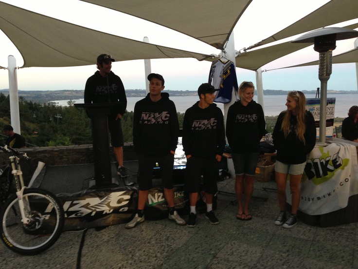The lovely NZXC Racing team - sponsored by NZByBike.com