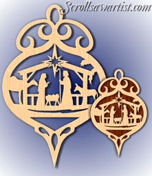 scroll saw christmas projects. scroll saw patterns :: holidays christmas traditional ornaments plaque \u0026 ornament set - nativity projects