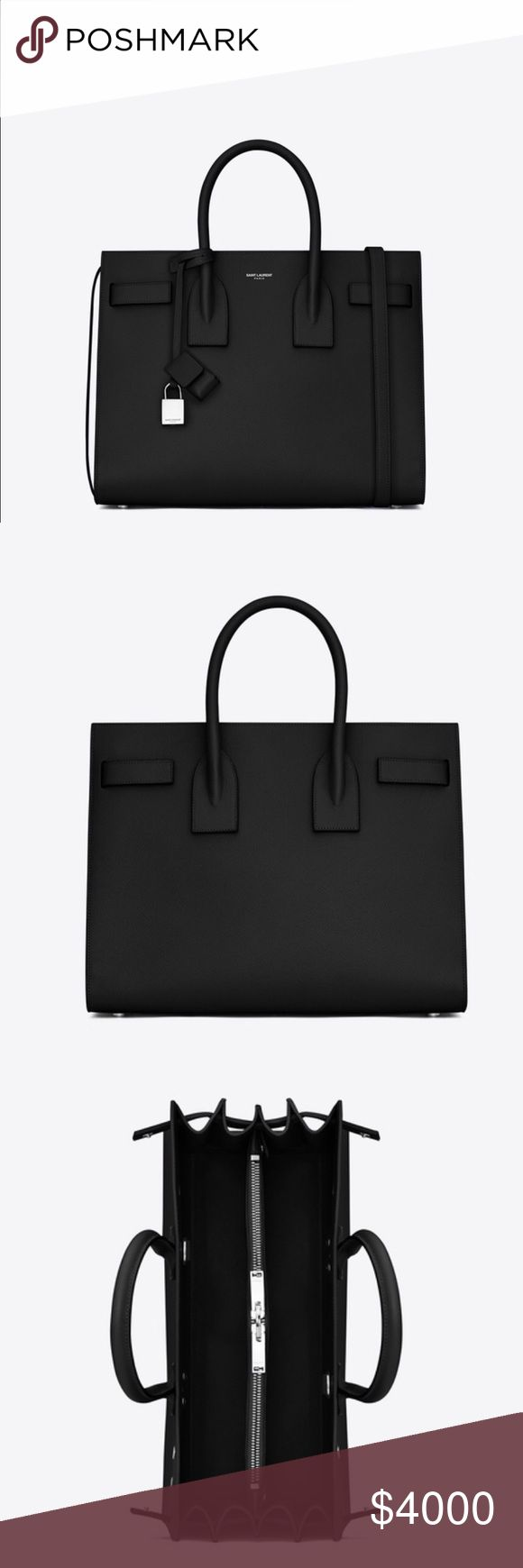 BRAND NEW YSL ST LAURENT HANDBAG Brand new st Laurent handbag black with white edges. Pictures don't do justice to this beauty!! No trades! Yves Saint Laurent Bags Totes