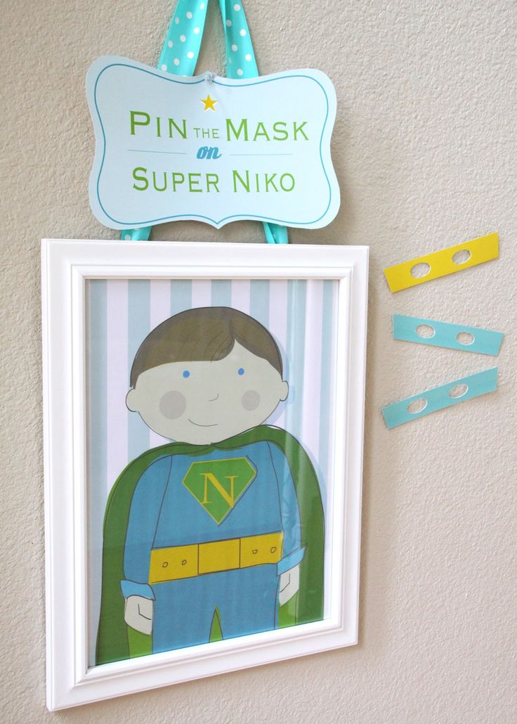 aqua, lime and yellow superhero party  {Jayme Marie Designs}